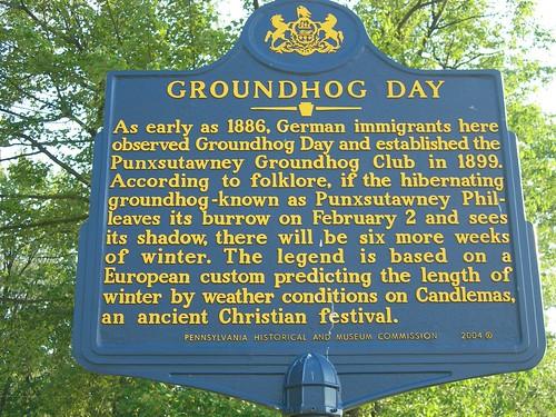 Groundhog Day Historic Marker