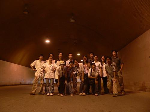 Trong hầm vào Thủy điện Hòa Bình