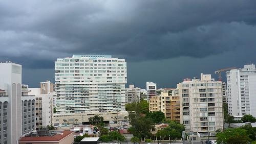 Dark skies over San Juan
