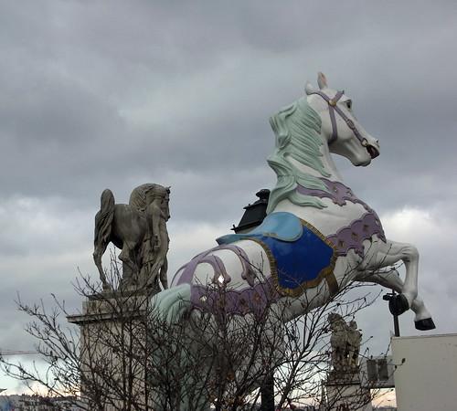 Horses at Pont d'Iéna