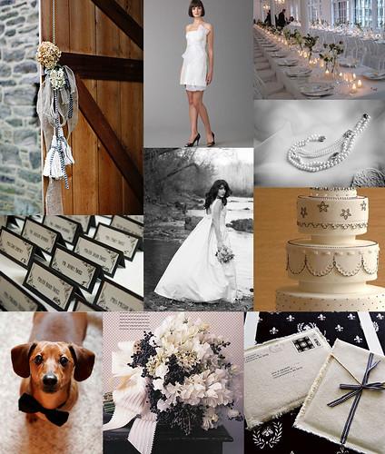2374563403 cab2b12112 Baú de ideias: Decoração de casamento preto e branco