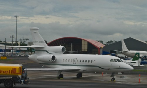 Michael Lord Ashcroft's plane in Auckland