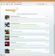 Zemanta Popular Page