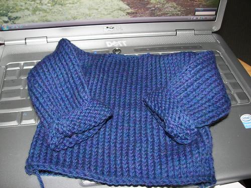 class block sweater