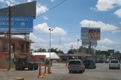 A 2008 file photo of the Laredo-Nuevo Laredo border crossing - Photo: Diego Graglia/newyorktomexico.com