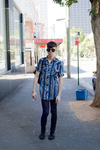 Blue shirt - Darlinghurst