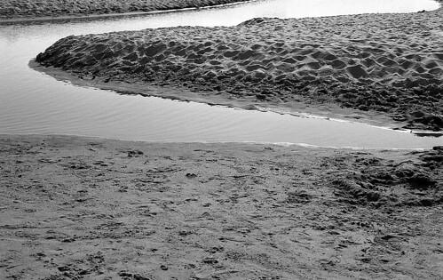 Beach Abstract, Dredging. (Ilford Pan F Plus. Nikon F100. Epson V500.)