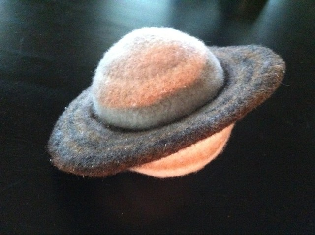 Crocheted Felted Saturn