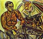 Joan Miró. Retrato de V. Nubiola. 1917.