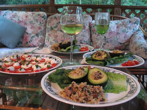 stuffed avocado dinner