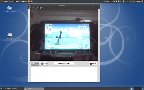 Screenshot Ubuntu saya pada saat menjalankan Cheese