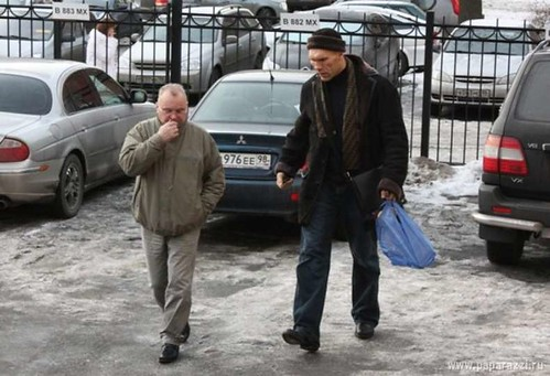 Valuev and the guy who hit him.