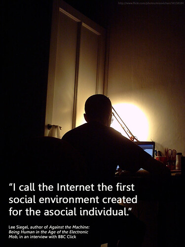 the internet, a social environment for the antisocial by Will Lion.