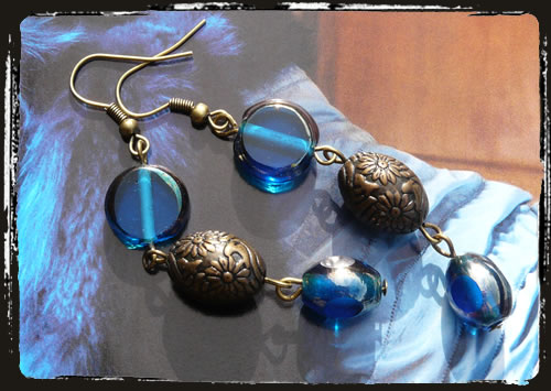 Orecchini blu - Blue earrings MEHIOBC