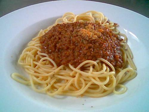 The Ark's spaghetti bolognese