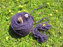 Spinning_2000ish_WiddershinWoolworks_merino_purple