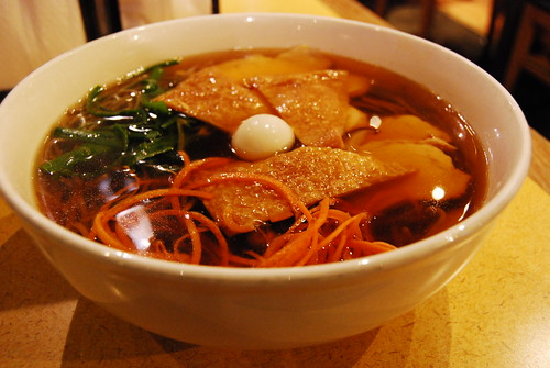 Soba soup with chicken