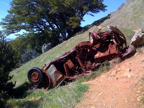 Crashed car by westcoastvol.