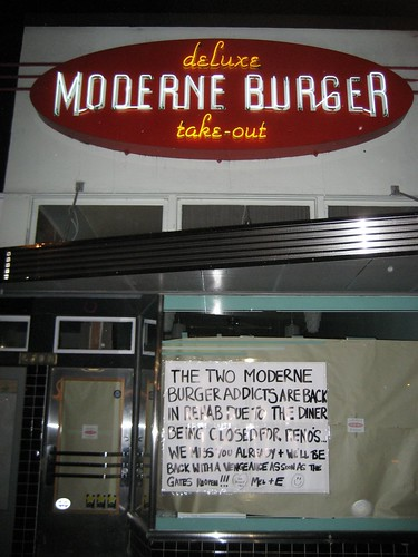Sign at Moderne Burger