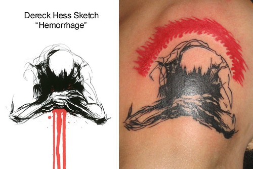 Dereck Hess - Hemorrhage Tattoo by Sacred Heart Tattoo, Lincoln NE