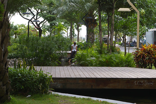 The new park between Garden plaza and Panorama.