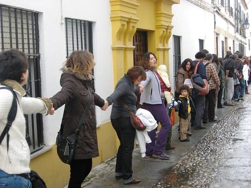 Cadena Humana Apoyo Palestina calles Córdoba