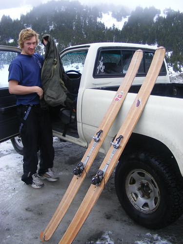 Grahams homemade skis