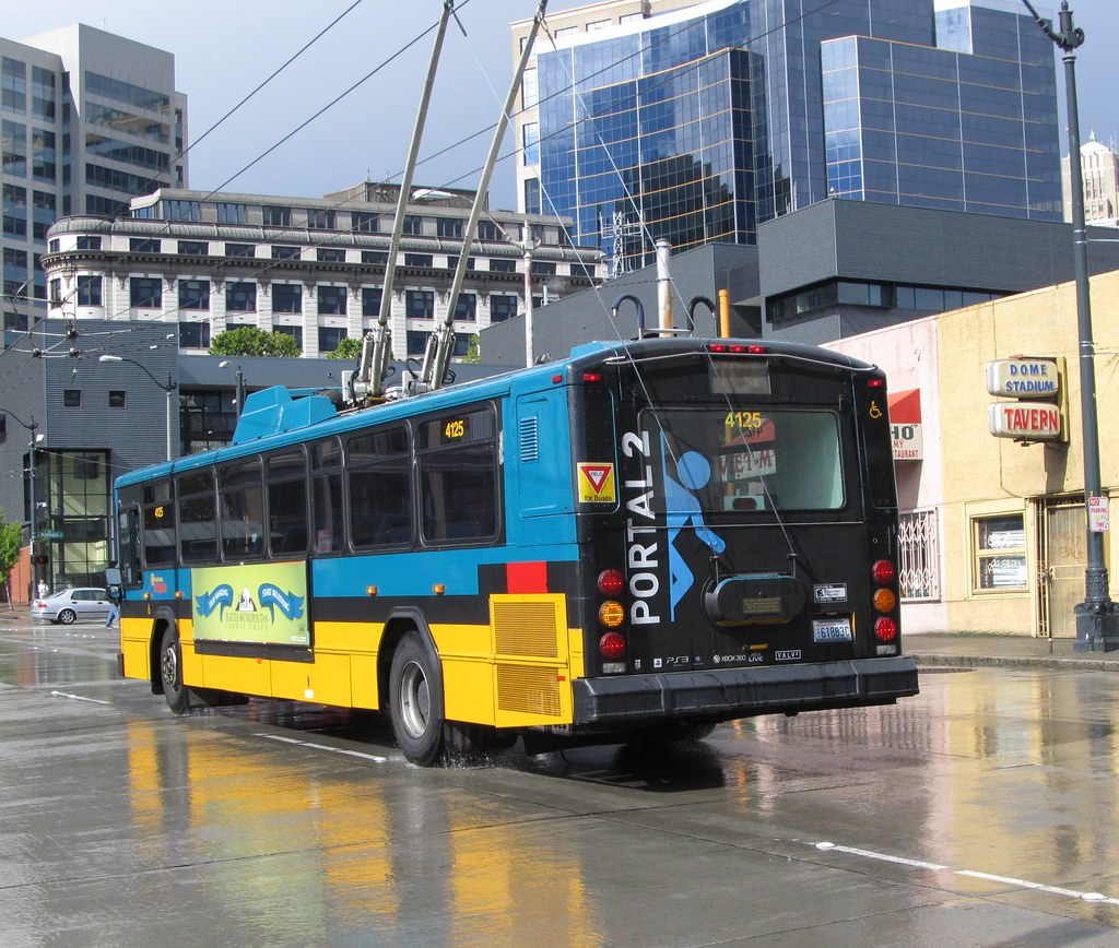 hight resolution of king county metro 2001 gillig phantom trolley 4125 zargoman tags seattle travel bus