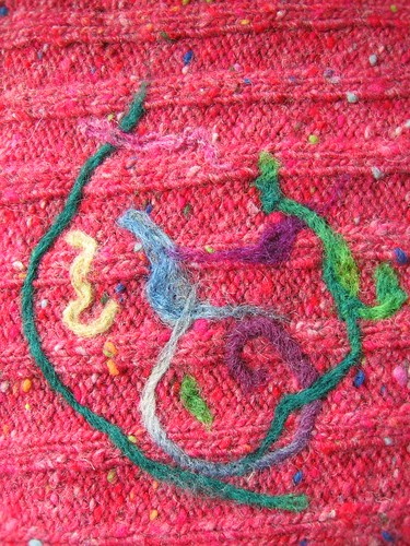abstract in wool