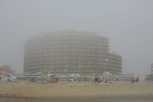 Our Hotel, from the beach.