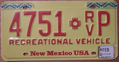 NEW MEXICO 2006 RECREATIONAL VEHICLE plate