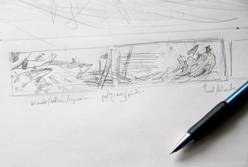 book illustration - thumbnail drawing