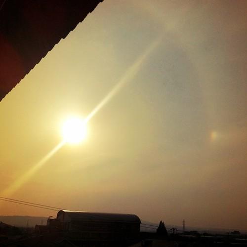 夕陽の輪。 #sunset