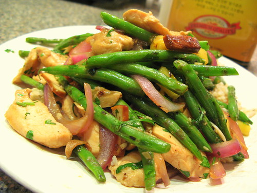 Pineapple Chicken and String Beans with Smoked Tofu by you.