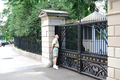 David at a White House Gate
