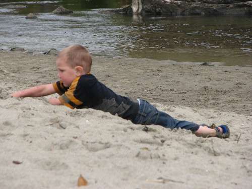 Jacob at creek