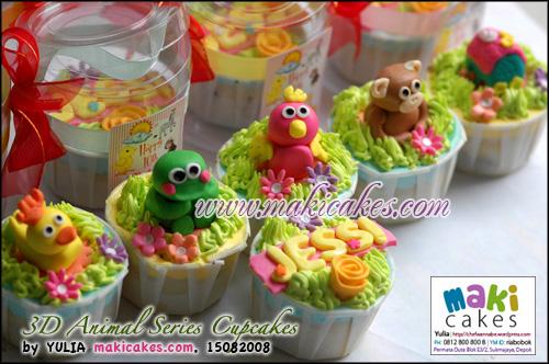 3D Animal Series Cupcakes - Maki Cakes