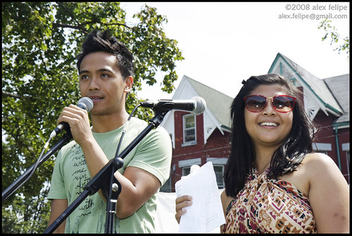 Hosts Darrel Gamotin and Rose Cortez.