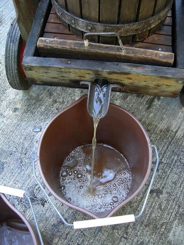 Cider flowing