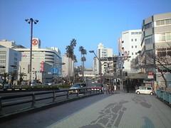 新町橋から徳島駅を望む@徳島市