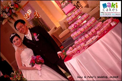 Purple Pink Wedding Cupcakes - Maki Cakes