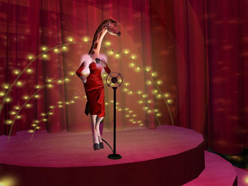 Singing at the nightclub