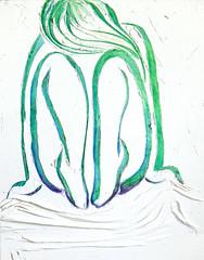 Shy - 30x24 Mixed Media on Canvas