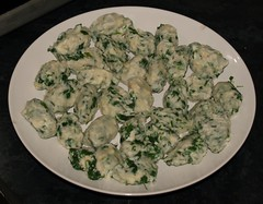 Spinach and ricotta gnocci by Elin B