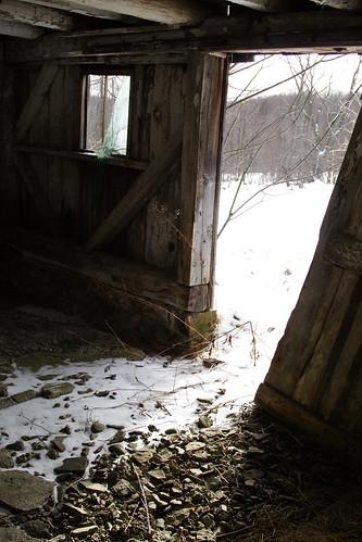 Old Barn Inside Door