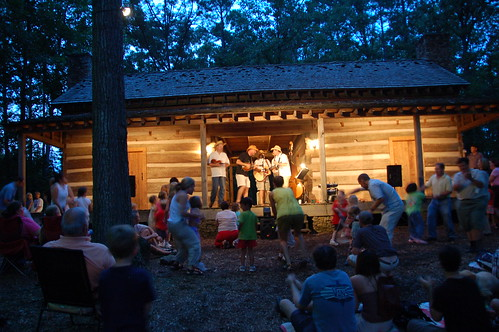 kids dancing at Red Top Mountain