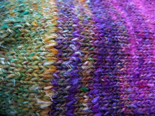 silk garden sock detail