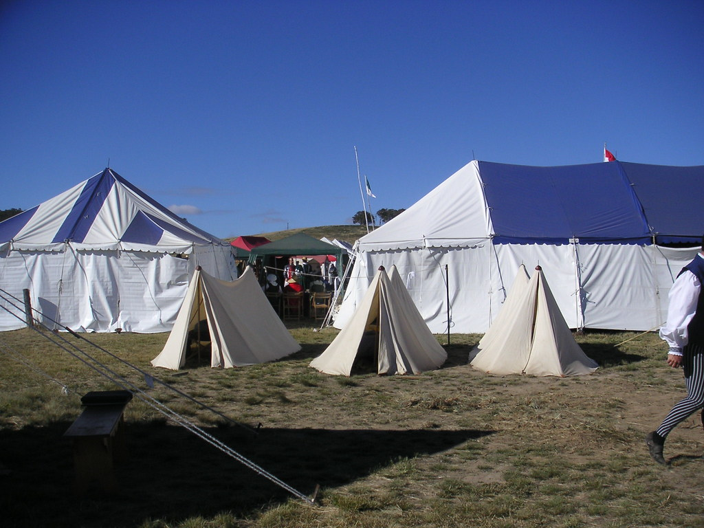 3 tents at Rowany Festival 2005