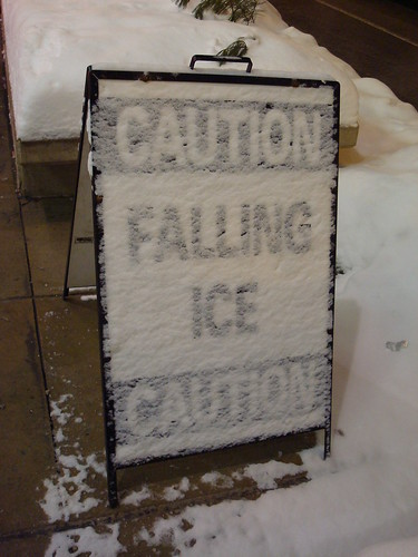 Caution Falling Ice
