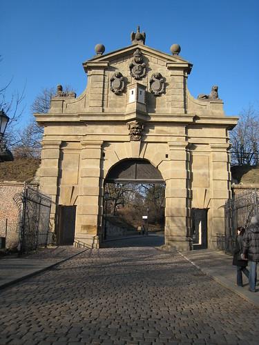 Entrance to the Vyšehrad, Prague